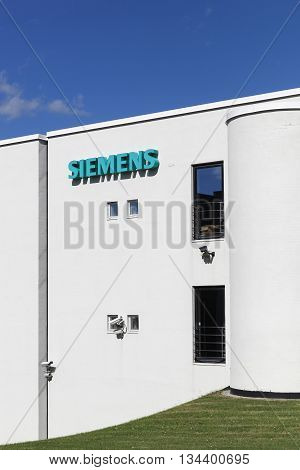 Aarhus, Denmark - June 11, 2016: Siemens building. Siemens is a german multinational. The principal divisions of the company are industry, energy, healthcare, infrastructure and cities
