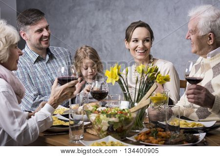 Three Generations At The Table