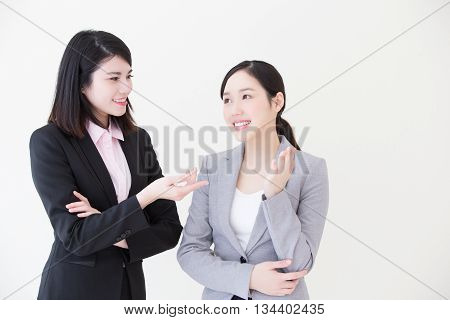 Group of success business people team meeting in office with white background asian