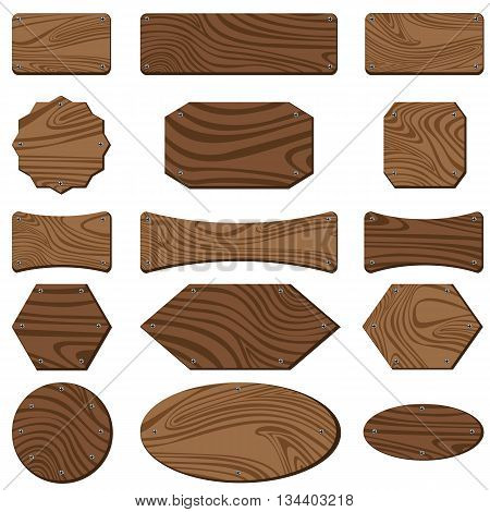 Wooden sign isolated on white background. Sign design for wooden texture.