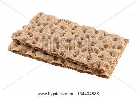 Wasa crispbread isolated on white background. Rye cracker.