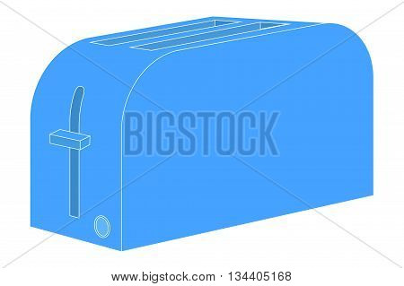 Toaster Icon. Vector illustration isolated on white background.