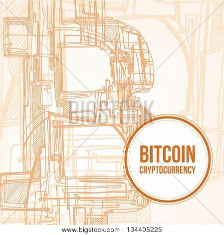 Hand Drawn Bitcoin Symbol