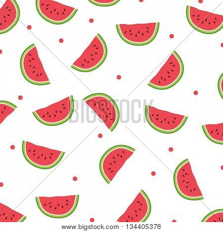 Watermelon icon.Seamless pattern. Watercolor