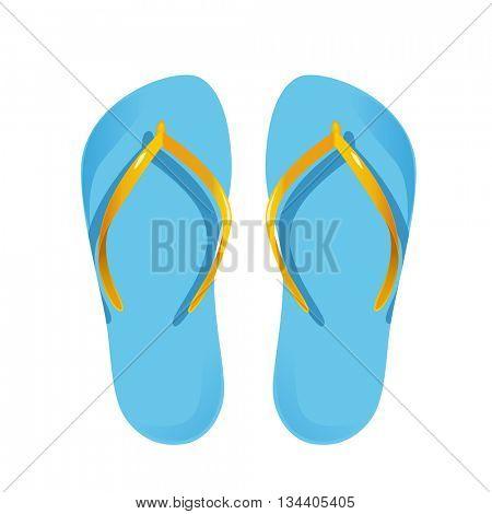 Beach sandals.Vector