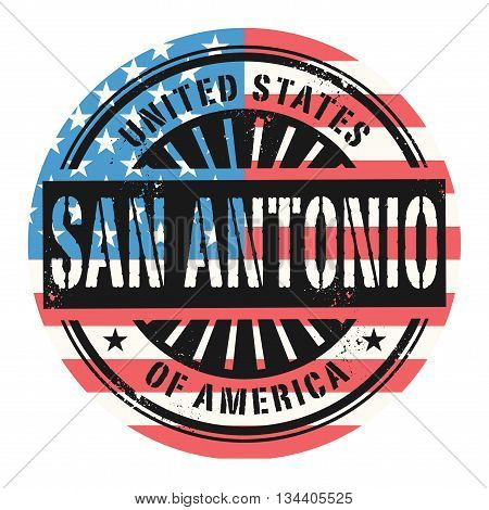 Grunge rubber stamp with the text United States of America, San Antonio, vector illustration