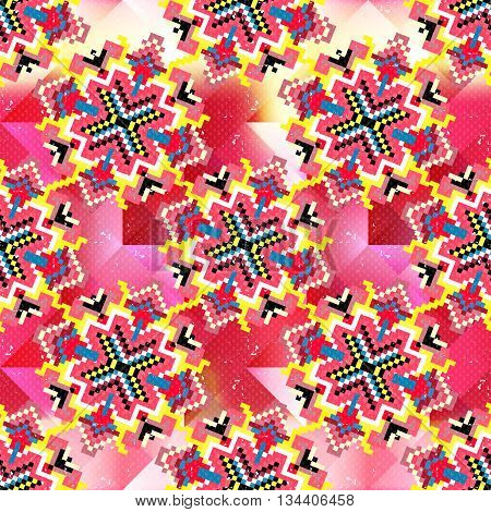 colorful geometric seamless pattern vector illustration abstract high quality