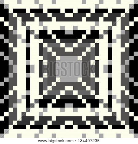 pixel pattern on a gray background vector illustration abstract high quality