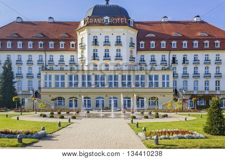 SOPOT, POLAND - OCTOBER 20: Grand Hotel on the Baltic Sea on October 20, 2012 in Sopot.