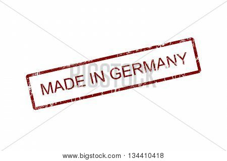 Made in Germany Rubber Stamp, grunge red stamp