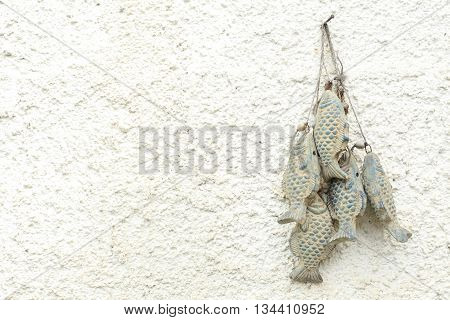 Old white stucco texture background - wall with rural decor
