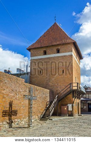 STAROGARD GDANSKI, POLAND - SEPTEMBER 9: Historic fortified tower built in the first half of the fourteenth century on September 9, 2012 in Starogard Gdanski.