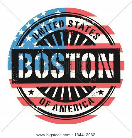 Grunge rubber stamp with the text United States of America, Boston, vector illustration