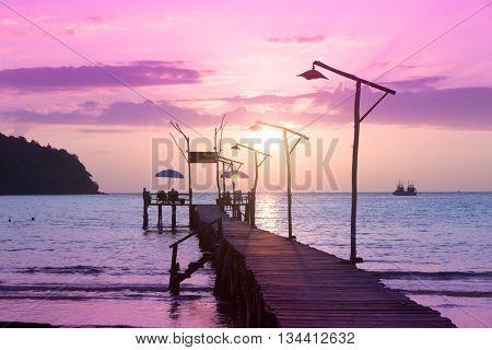 Sundown Serenity Nightfall by the Sea