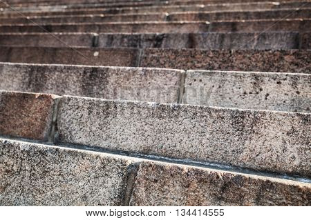 Abstract Architecture, Granite Stairway Closeup