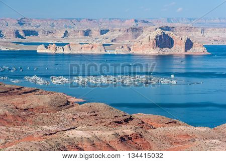 Lake Mead between Nevada and Arizona, USA