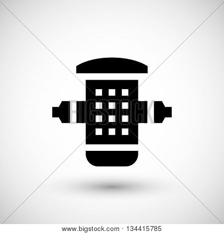 Water filter icon isolated on grey. Vector illustration