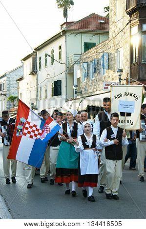 Montenegro, Herceg Novi - 28/05/2016: Folklore Ensemble