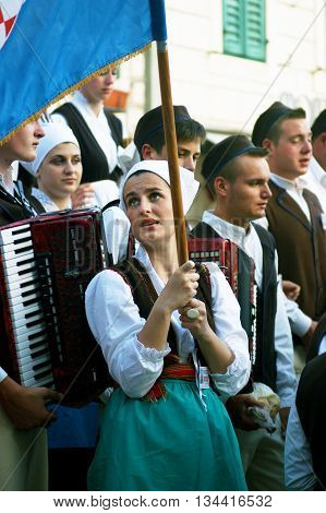 Montenegro, Herceg Nov - 28/05/2016: Members of folklore ensemble