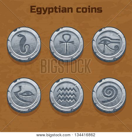 old silver Egyptian coins, resource gaming element