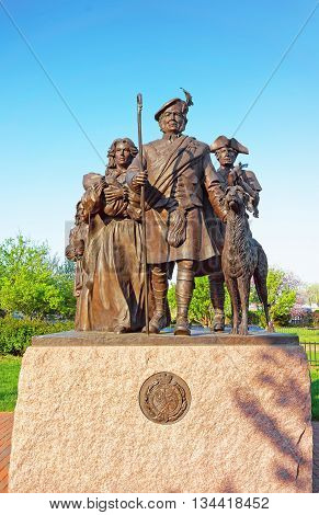 Monument To Scottish Immigrants At Penns Landing Of Philadelphia