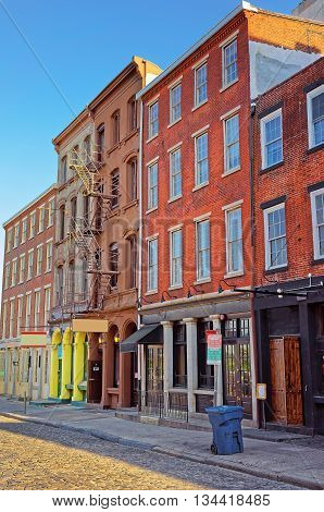 Old Houses In The Old City Of Philadelphia