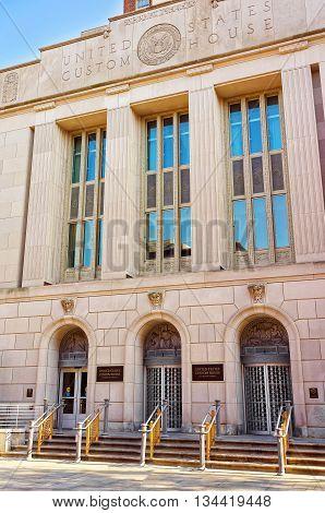 United States Custom House Building In Chestnut Street In Philadelphia