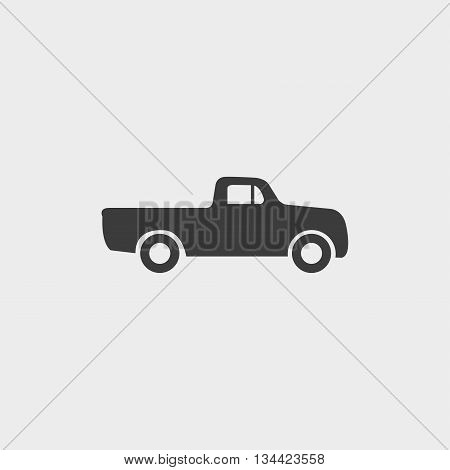 pick-up icon in a flat design in black color. Vector illustration eps10