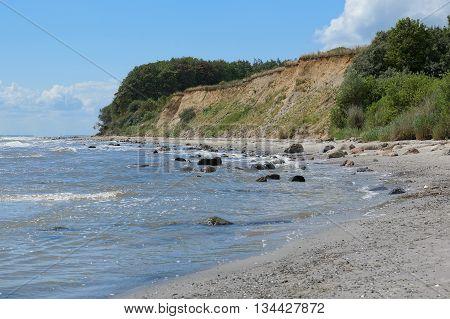 baltic sea abrasion coast near Groemitz, Germany