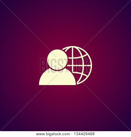 Global Business, Business Man Icon, Vector Illustration.