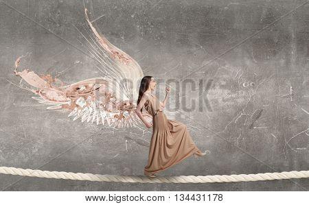 Angelic beautiful woman