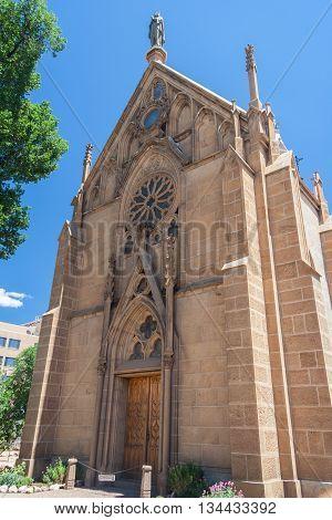 Loretto Chapel In Downtown Santa Fe, New  Mexico