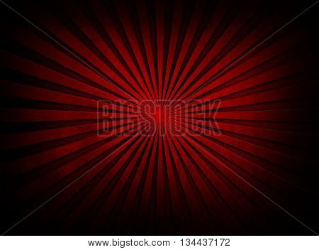 red metal with rays pattern