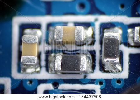 capacitor resistor smd pcb solder electronic circuit