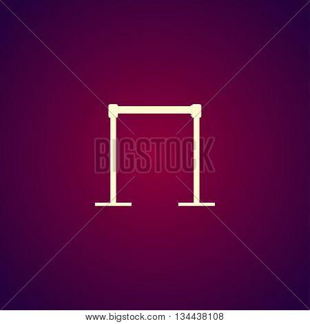 Barricade Icon. Vector Concept Illustration For Design