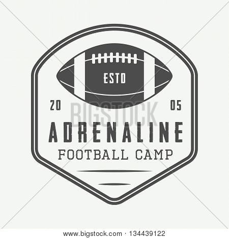 Vintage rugby and american football labels emblems and logo. Graphic art. Vector illustration
