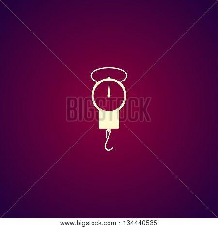 Libra Icon. Vector Concept Illustration For Design