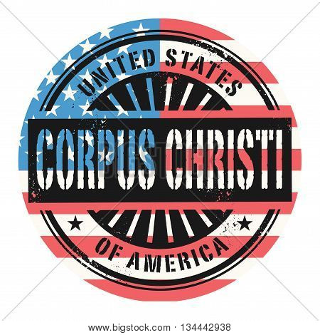 Grunge rubber stamp with the text United States of America, Corpus Cristi, vector illustration