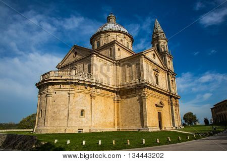 Ancient Christian Church in Montepulciano in Tuscany