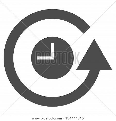 Restore Clock vector icon. Style is flat icon symbol, gray color, white background.