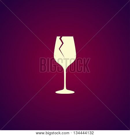Wine Glass Icon. Flat Design Style