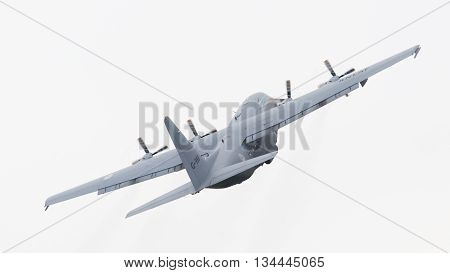 Leeuwarden, The Netherlands - June 11, 2016: Dutch Air Force Lockheed C-130H-30 Hercules (l-382) [g-