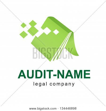 Design modern logos for legal business. On white and on black background.