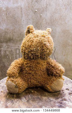 Old teddy bear Still life , art
