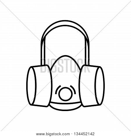Respirator icon in outline style isolated on white background