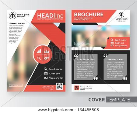Abstract business and corporate cover design layout. Suitable for flyer brochure book cover leaflet and annual report. red and white colour A4 size template background with bleed.