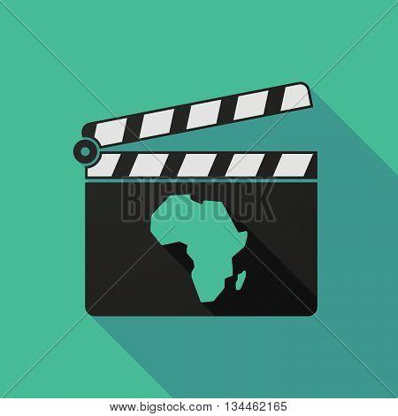 Long Shadow Clapperboard With An America Region World Globe
