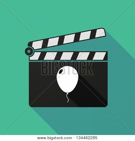 Long Shadow Clapperboard With A Balloon