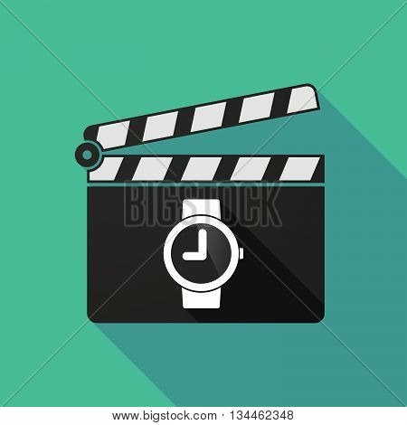 Long Shadow Clapperboard With A Wrist Watch