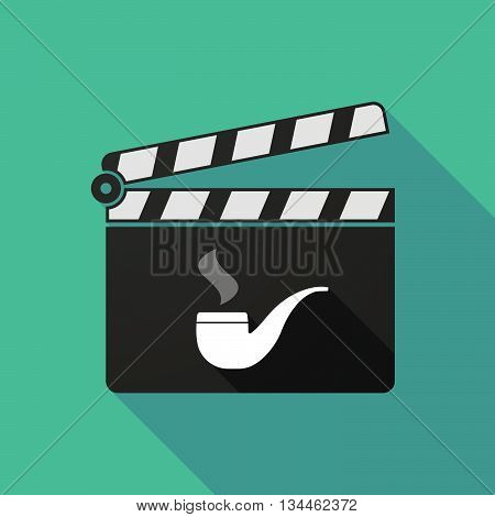 Long Shadow Clapperboard With A Smoking Pipe
